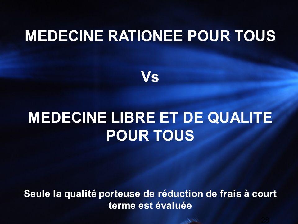 MEDECINE RATIONEE POUR TOUS MEDECINE LIBRE ET DE QUALITE POUR TOUS