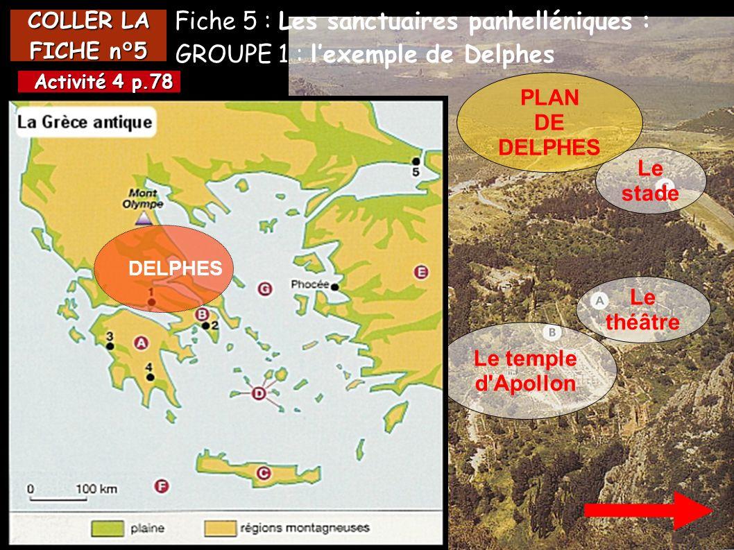 Fiche 5 : Les sanctuaires panhelléniques :