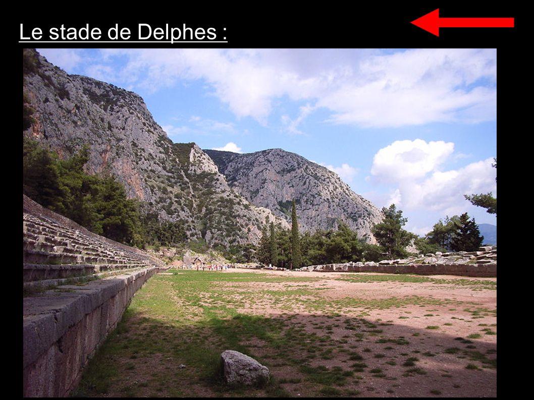 Le stade de Delphes :