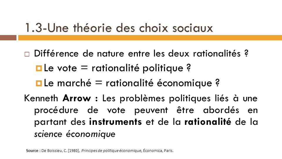 1.3-Une théorie des choix sociaux