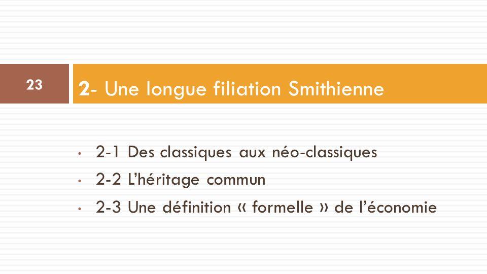 2- Une longue filiation Smithienne