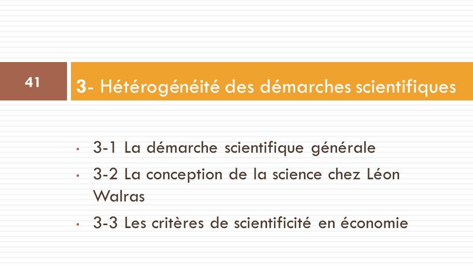3- Hétérogénéité des démarches scientifiques