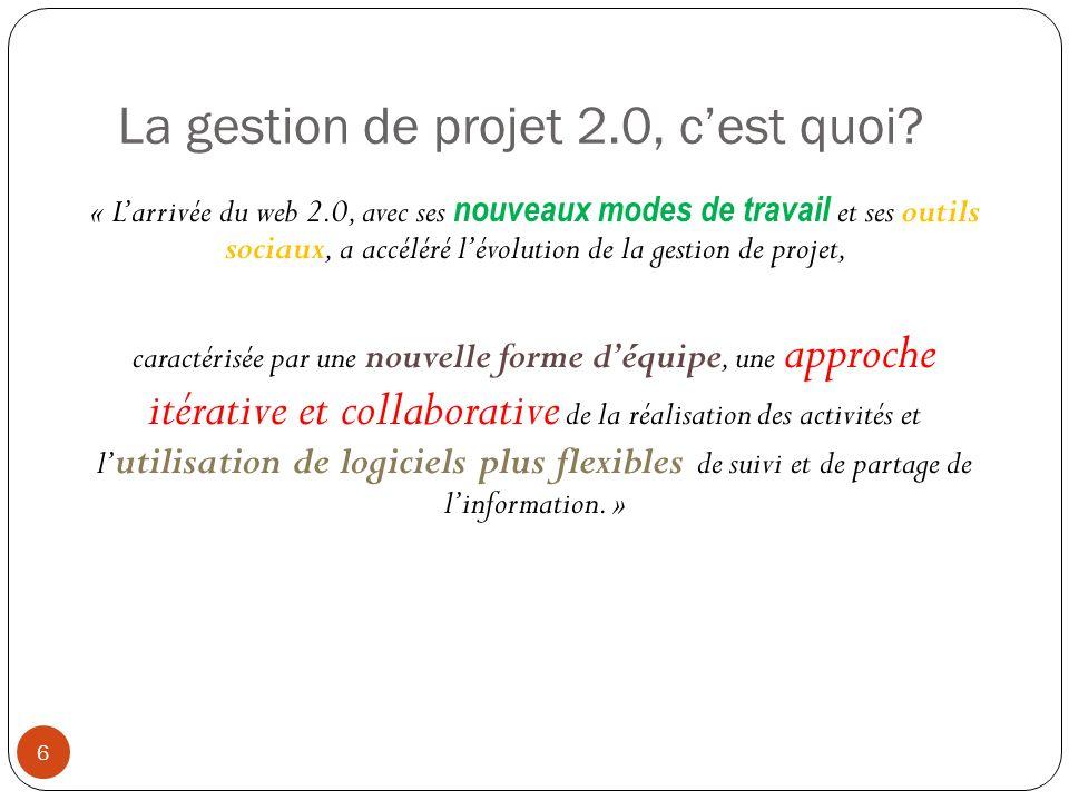 La gestion de projet 2.0, c'est quoi