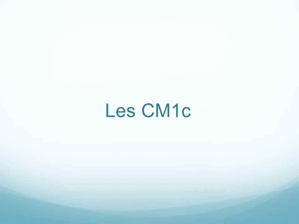 Les CM1c