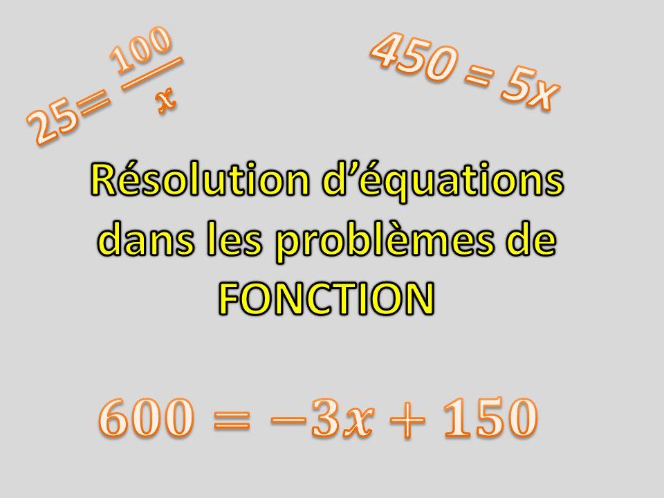 Résolution d'équations