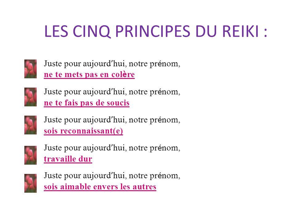 LES CINQ PRINCIPES DU REIKI :