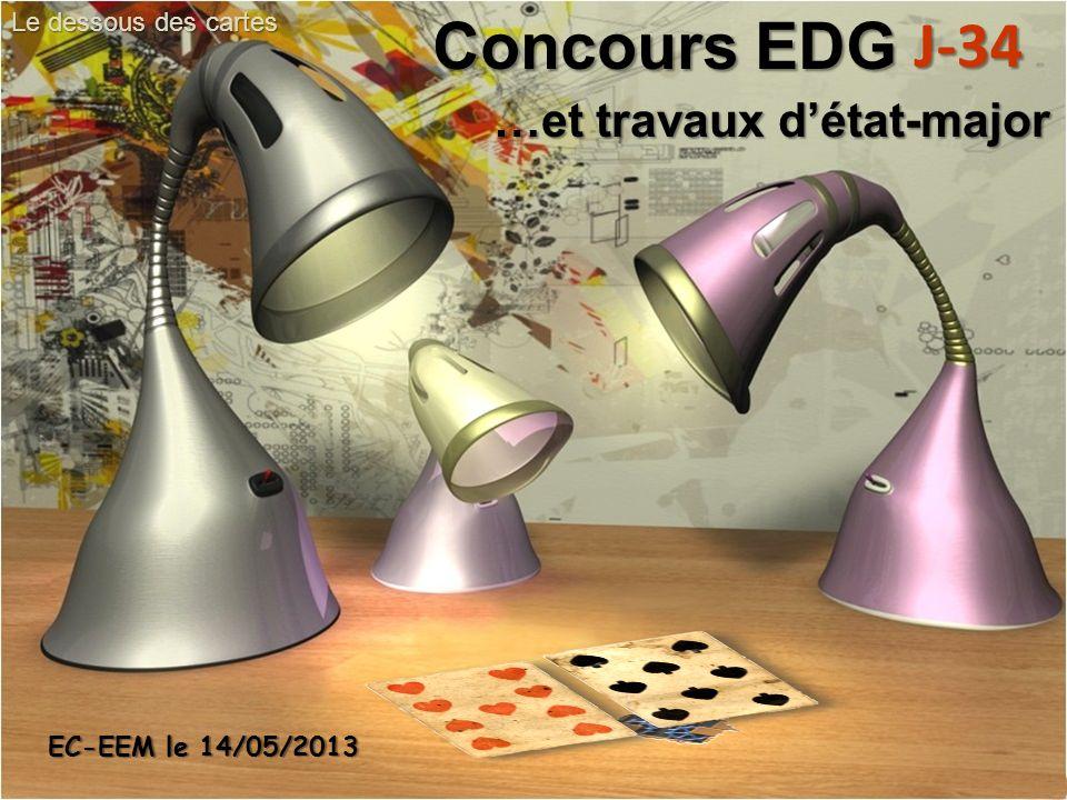 Concours EDG J-34 …et travaux d'état-major Le dessous des cartes