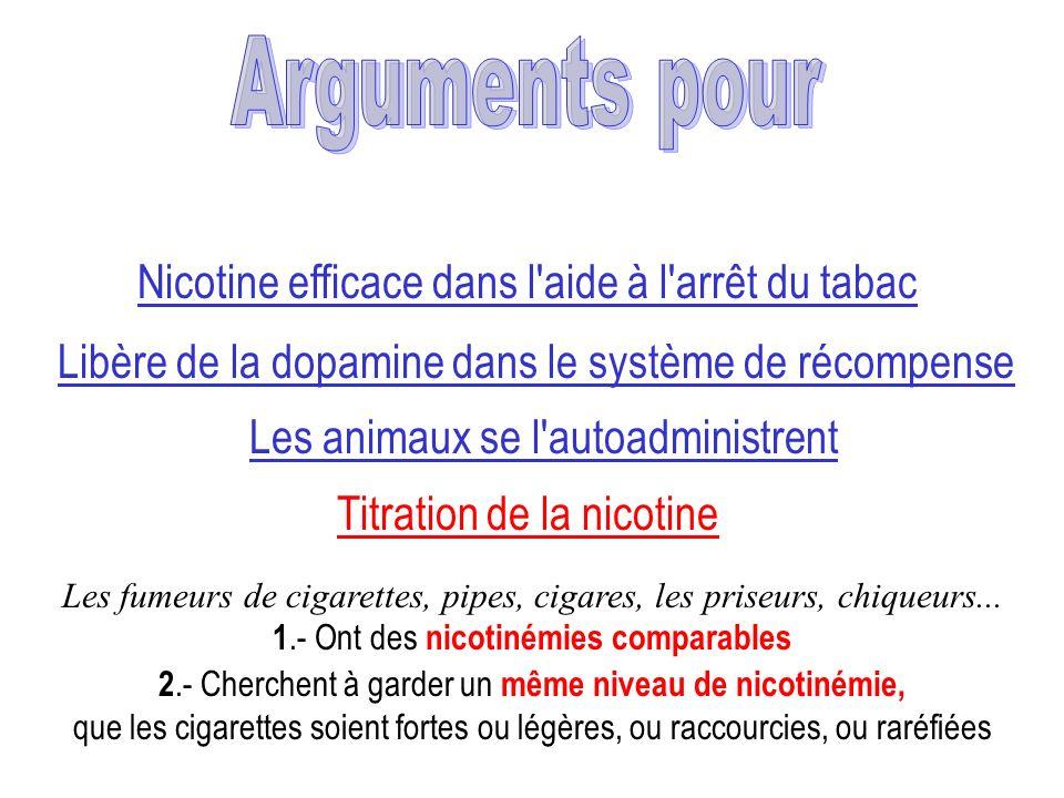 Arguments pour Nicotine efficace dans l aide à l arrêt du tabac