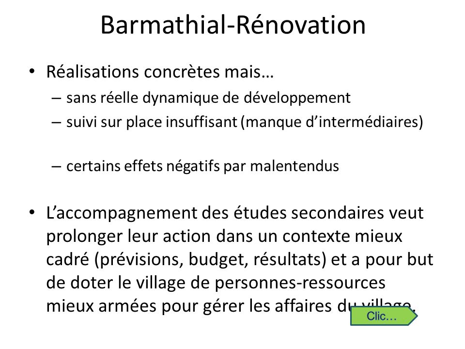 Barmathial-Rénovation