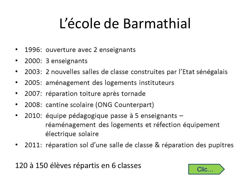 L'école de Barmathial 120 à 150 élèves répartis en 6 classes