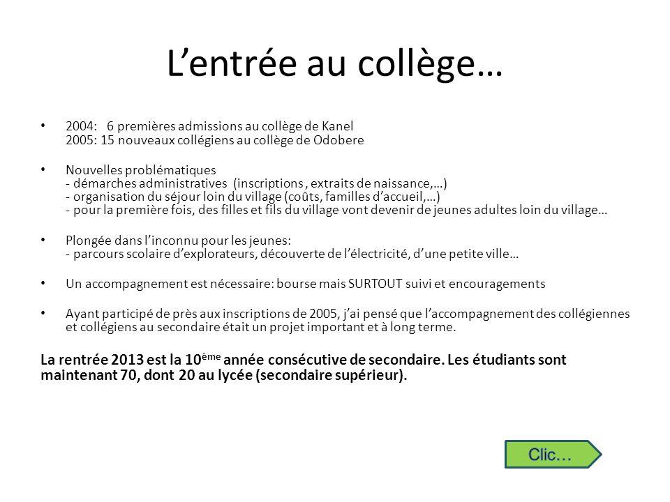 L'entrée au collège… Clic…