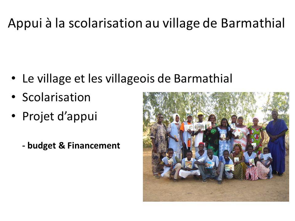 Appui à la scolarisation au village de Barmathial