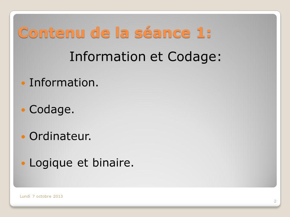 Information et Codage: