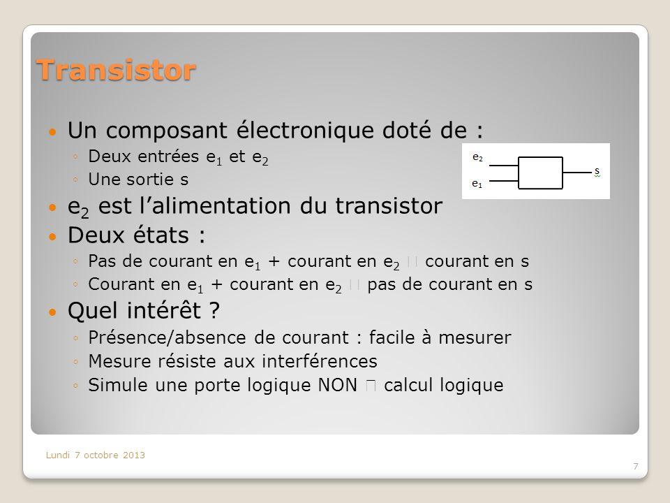 Transistor Un composant électronique doté de :