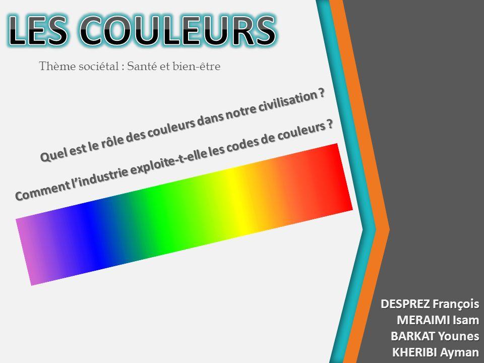LES COULEURS Quel est le rôle des couleurs dans notre civilisation