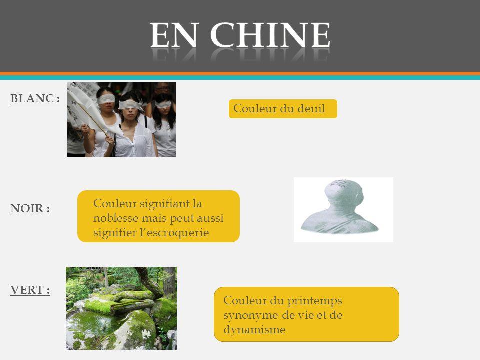 En chine BLANC : Couleur du deuil