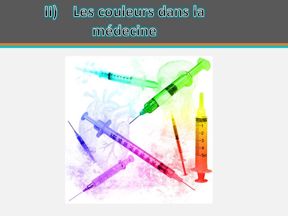 II) Les couleurs dans la médecine