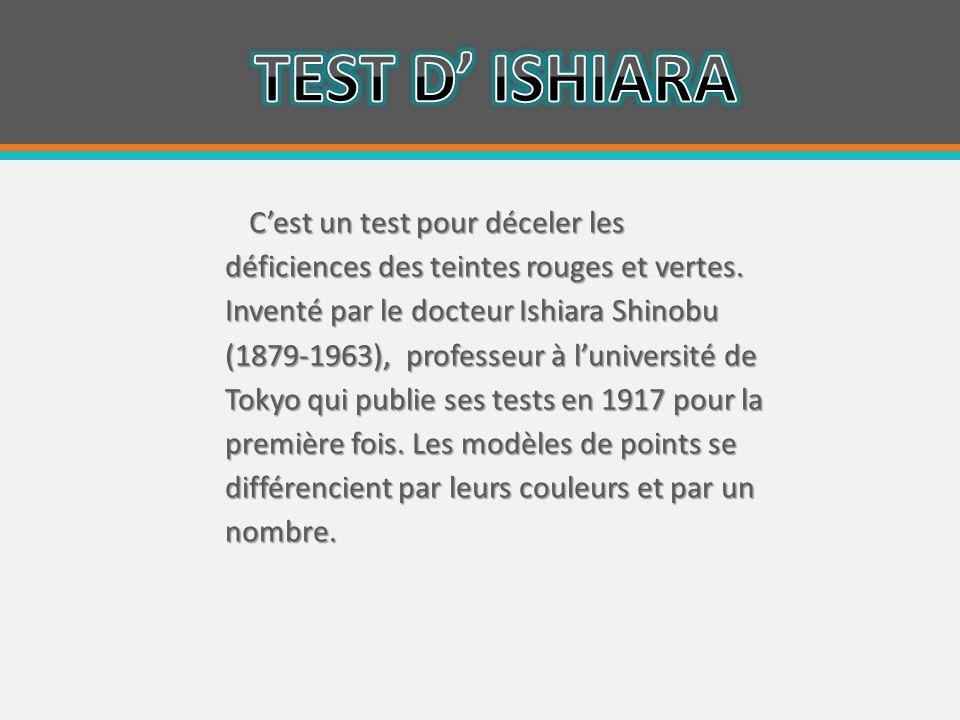 TEST D' ISHIARA