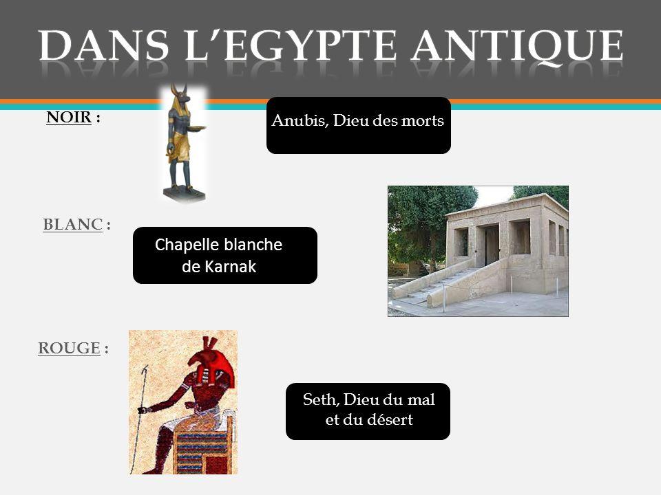 Dans l'egypte antique Chapelle blanche de Karnak