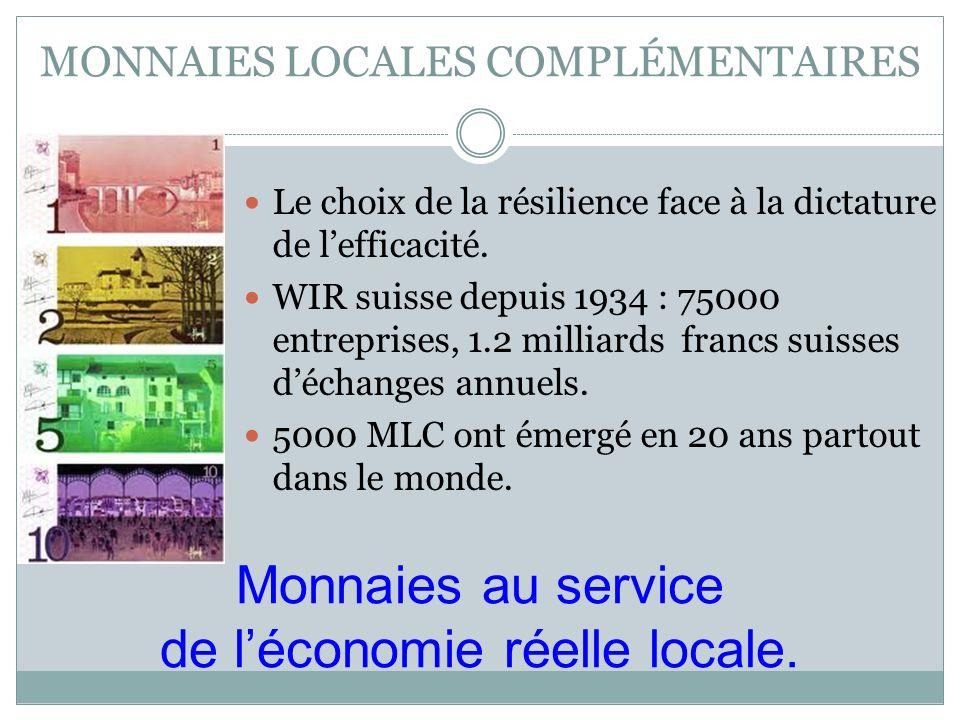 MONNAIES LOCALES COMPLÉMENTAIRES