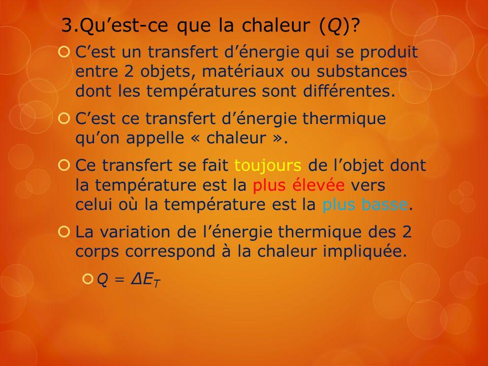3.Qu'est-ce que la chaleur (Q)