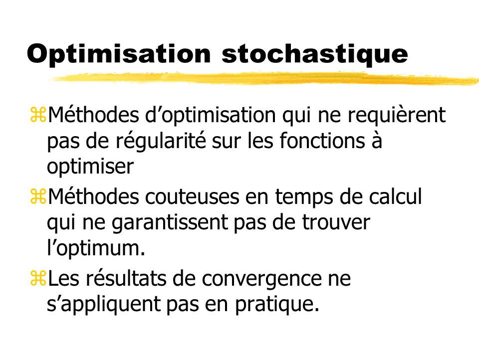 Optimisation stochastique