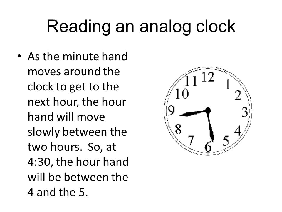Reading an analog clock