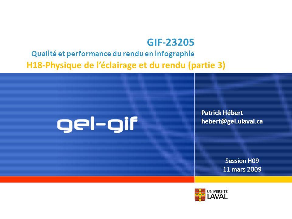 GIF-23205 Qualité et performance du rendu en infographie