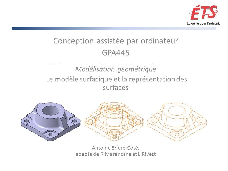 Conception assistée par ordinateur GPA445