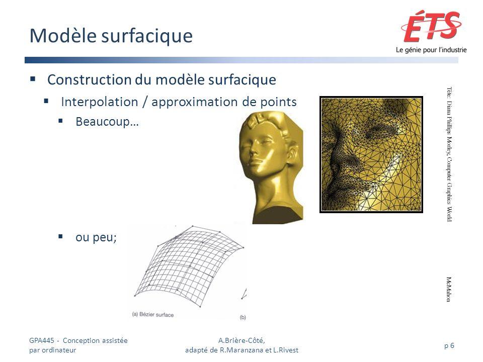 A.Brière-Côté, adapté de R.Maranzana et L.Rivest