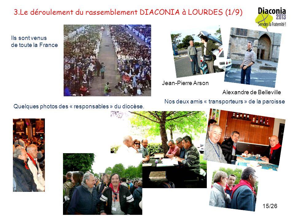 3.Le déroulement du rassemblement DIACONIA à LOURDES (1/9)
