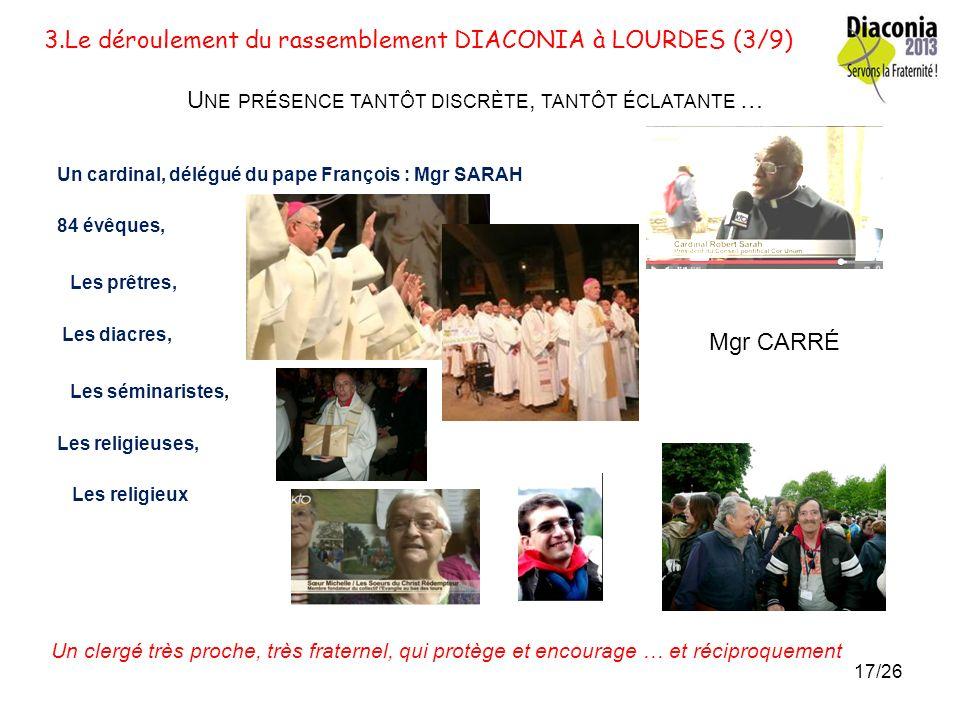 3.Le déroulement du rassemblement DIACONIA à LOURDES (3/9)