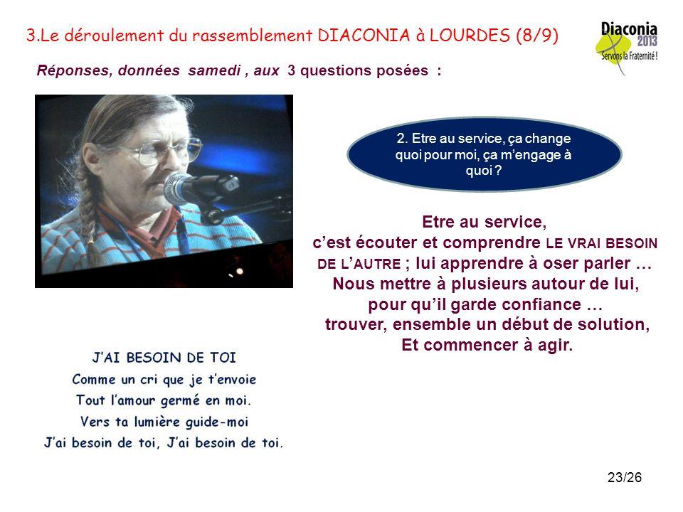 3.Le déroulement du rassemblement DIACONIA à LOURDES (8/9)