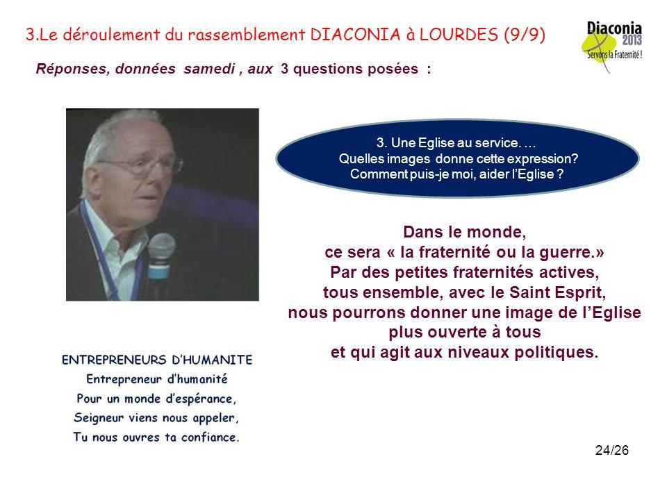 3.Le déroulement du rassemblement DIACONIA à LOURDES (9/9)