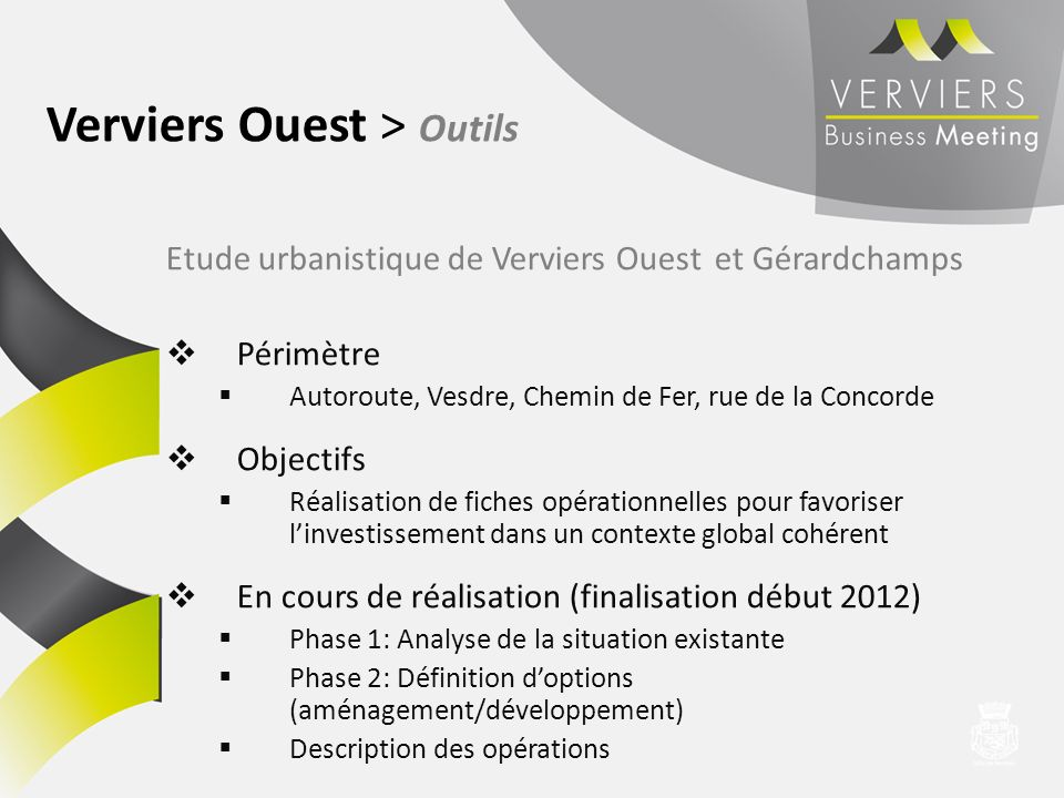 Verviers Ouest > Outils