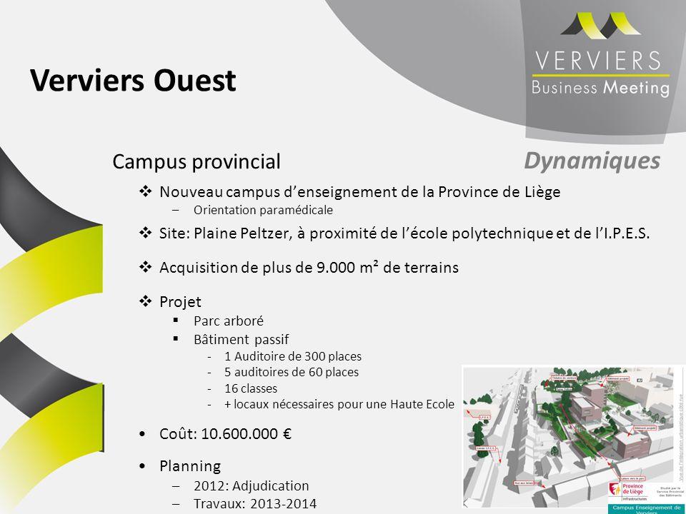 Verviers Ouest Campus provincial Dynamiques