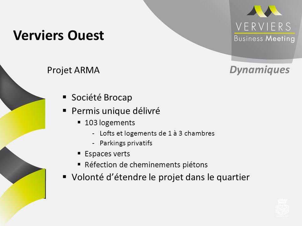 Verviers Ouest Projet ARMA Dynamiques Société Brocap