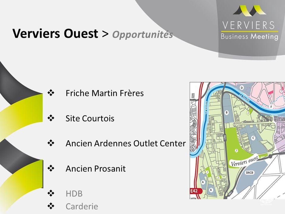 Verviers Ouest > Opportunités