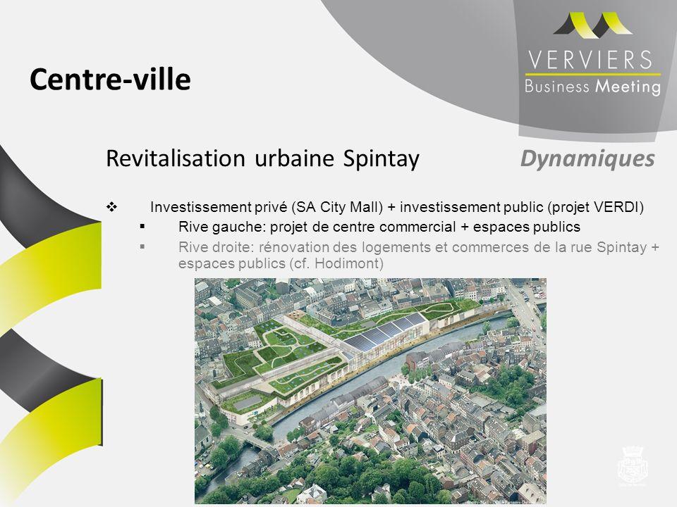 Centre-ville Revitalisation urbaine Spintay Dynamiques