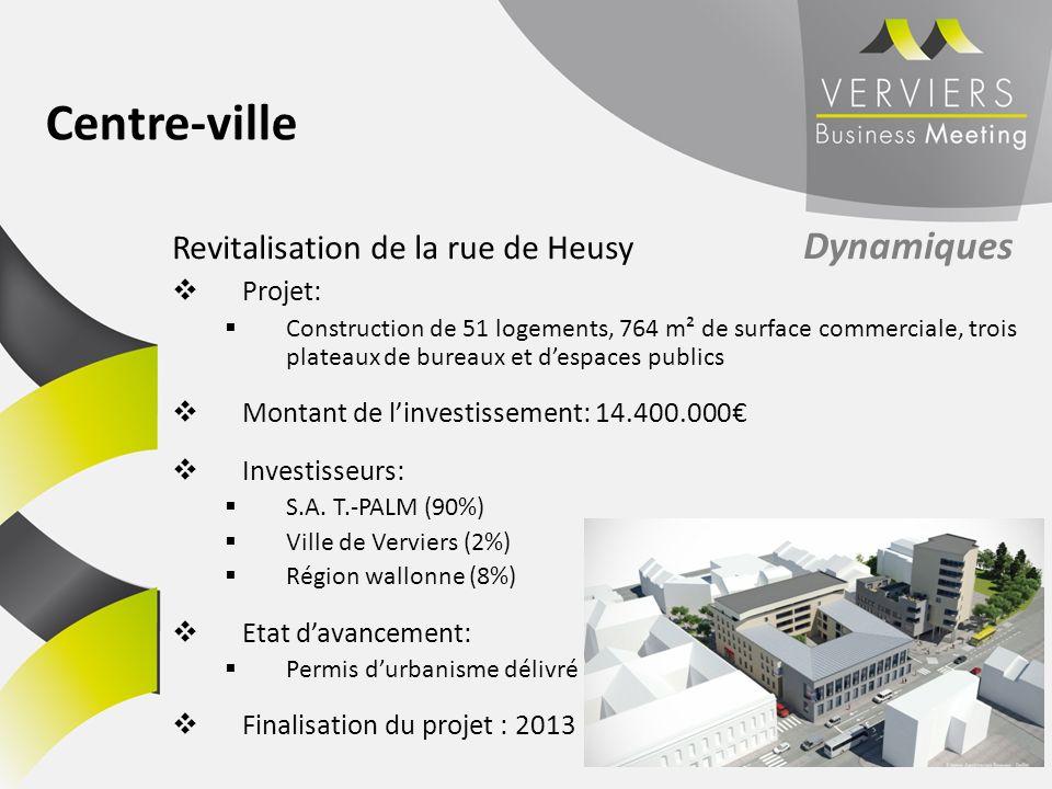 Centre-ville Revitalisation de la rue de Heusy Dynamiques Projet: