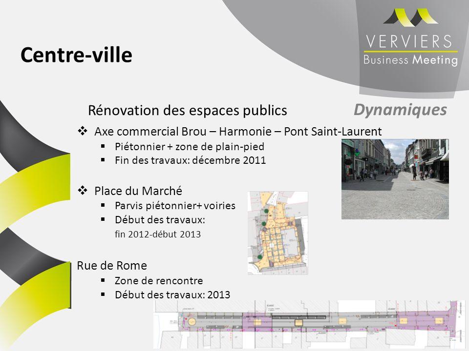 Centre-ville Rénovation des espaces publics Dynamiques