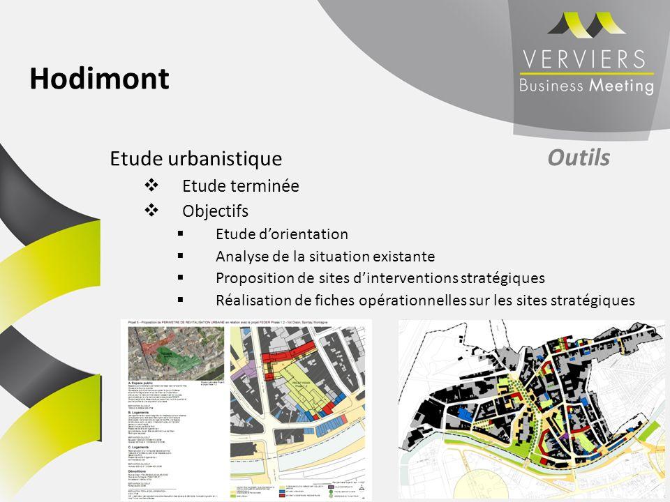 Hodimont Etude urbanistique Outils Etude terminée Objectifs