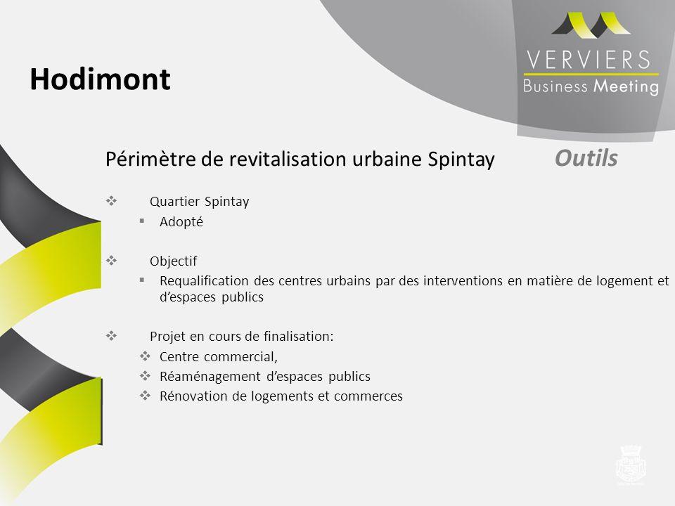 Hodimont Périmètre de revitalisation urbaine Spintay Outils