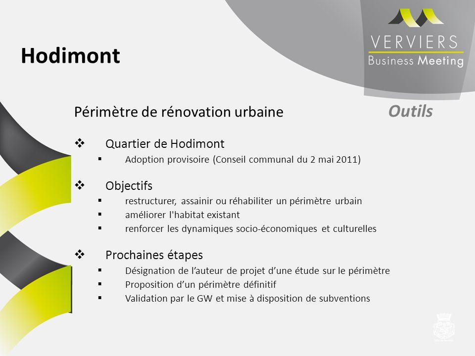 Hodimont Périmètre de rénovation urbaine Outils Quartier de Hodimont