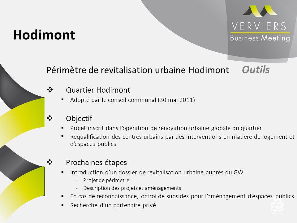 Hodimont Périmètre de revitalisation urbaine Hodimont Outils
