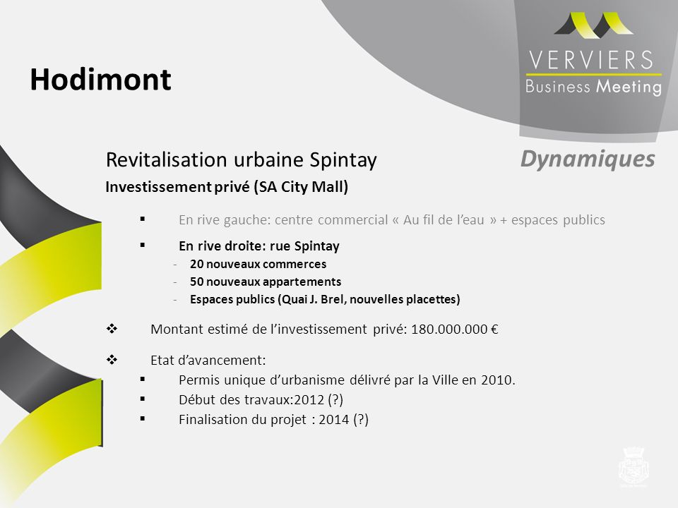 Hodimont Revitalisation urbaine Spintay Dynamiques