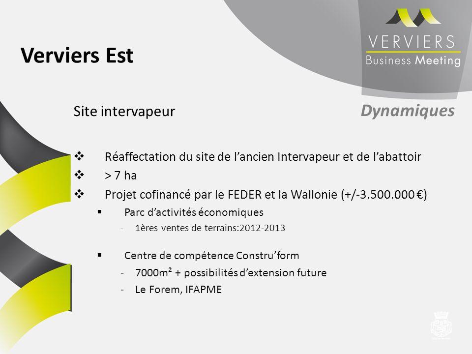 Verviers Est Site intervapeur Dynamiques