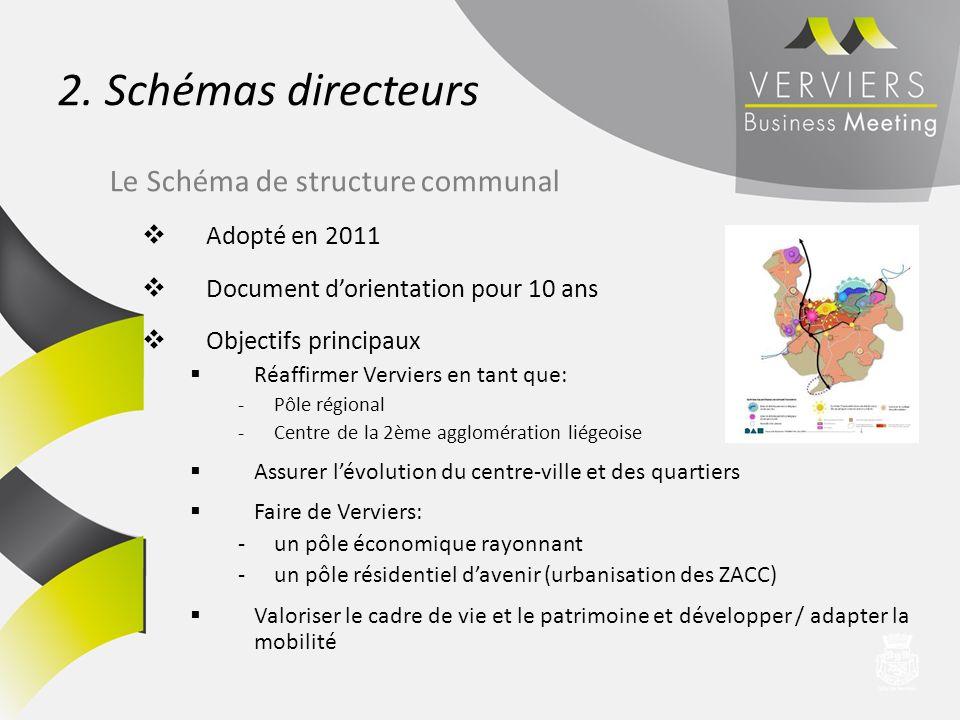 2. Schémas directeurs Le Schéma de structure communal Adopté en 2011