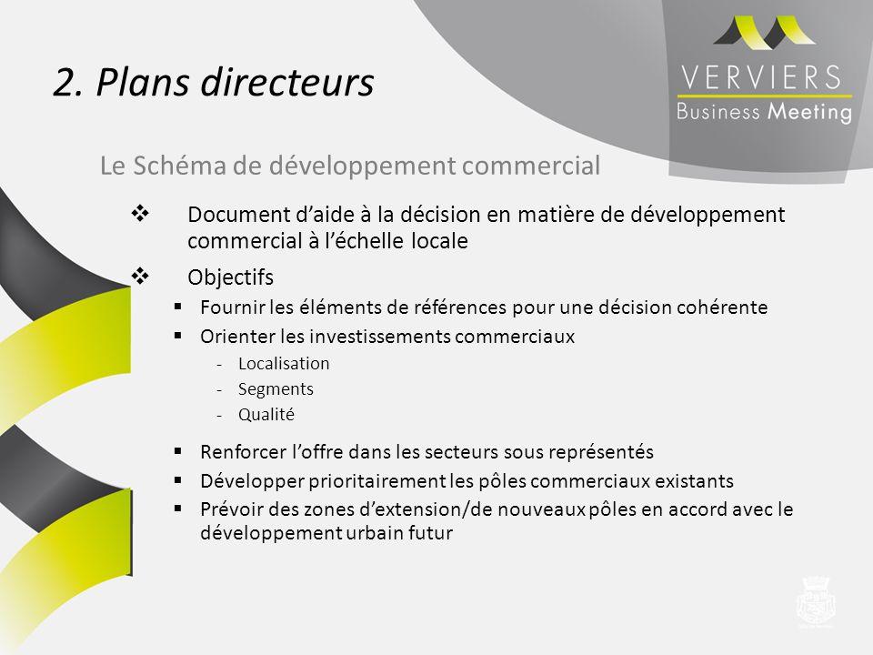 2. Plans directeurs Le Schéma de développement commercial