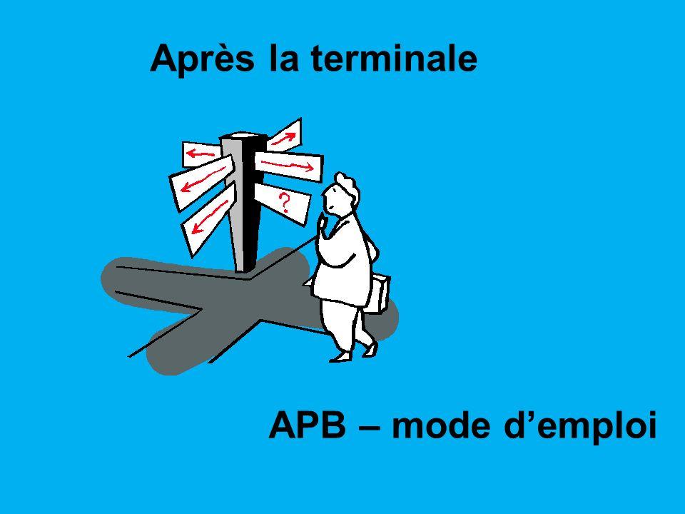 Après la terminale APB – mode d'emploi 1
